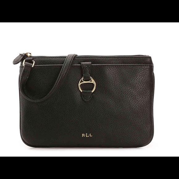 9f5e9ff93 Ralph Lauren Bags | Anfield Ii Crossbody Black Leather | Poshmark